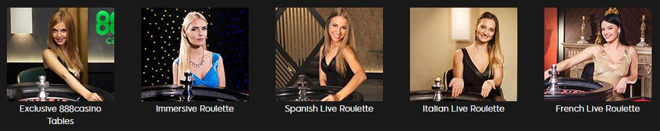 888 Casino Live Roulette-Angebot