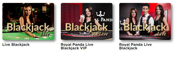 Live Blackjack bei Royal Panda