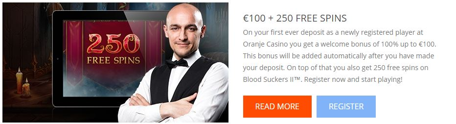 Oranje Casino Willkommensbonus