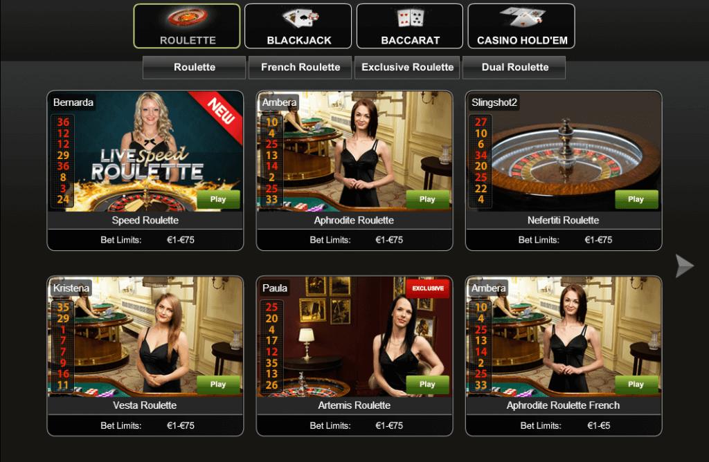 Casino.com live casino umgebung