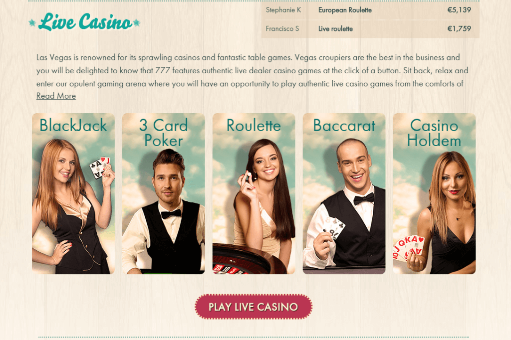 Review 777 Casino Live Casino