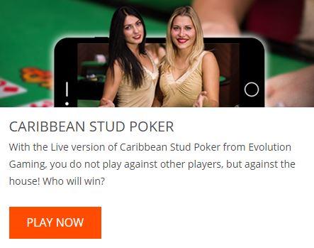 Oranje Casino Caribbean Stud Poker