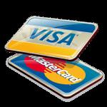Visa- und Mastercard-Symbol