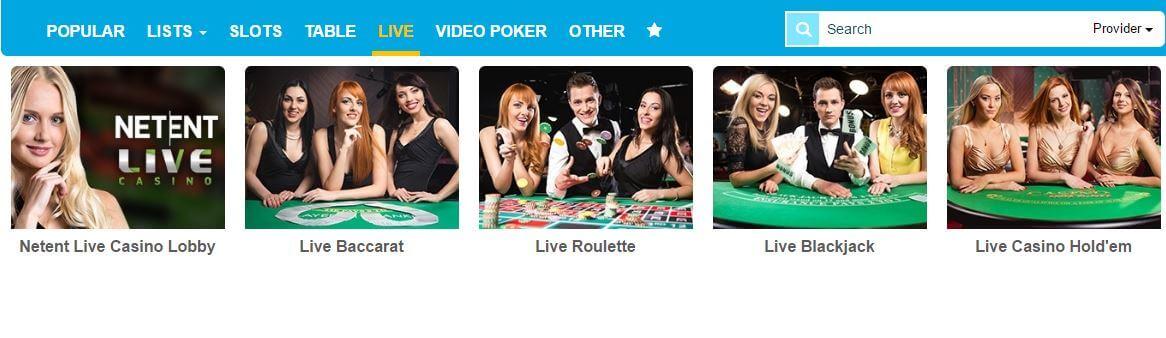 Casino Ventura Live Casino-Seite