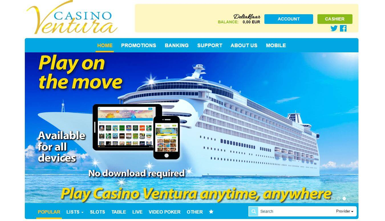 Homepage Casino Ventura Bewertung