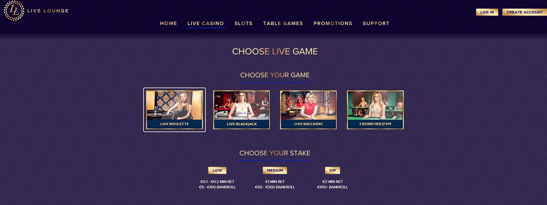 Live Lounge Casino Live Casino