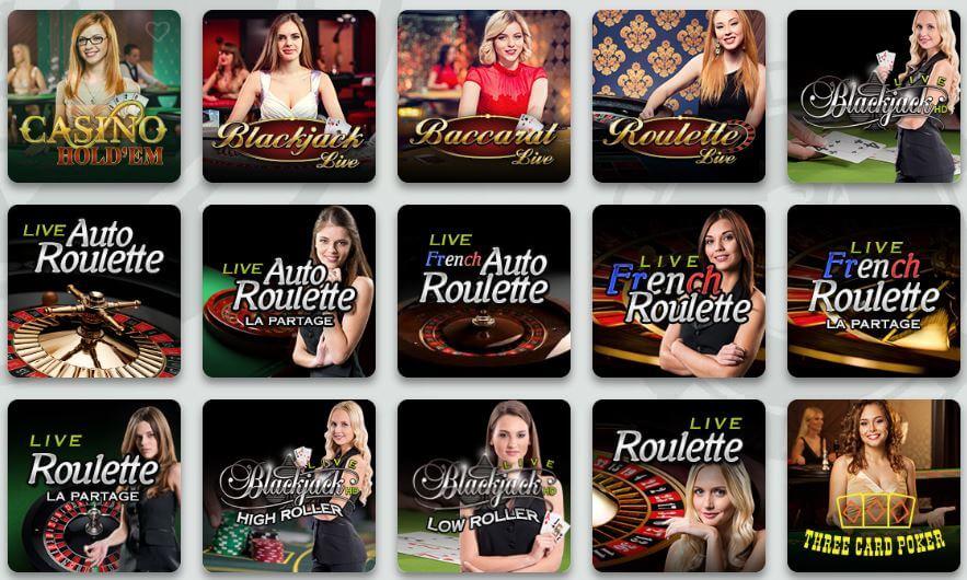 Sir Jackpot Live Casino-Seite