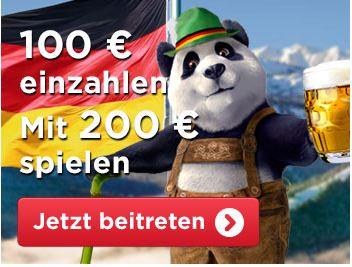 Royal Panda Casino Willkommensbonus