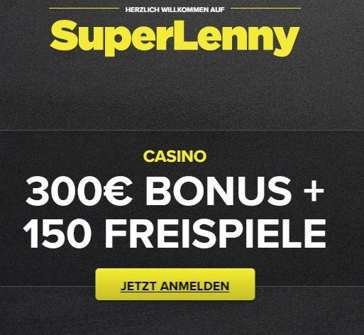 Superlenny Casino Willkommensbonus