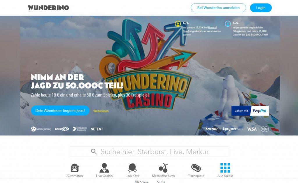 Dies ist der Wunderino Homepage