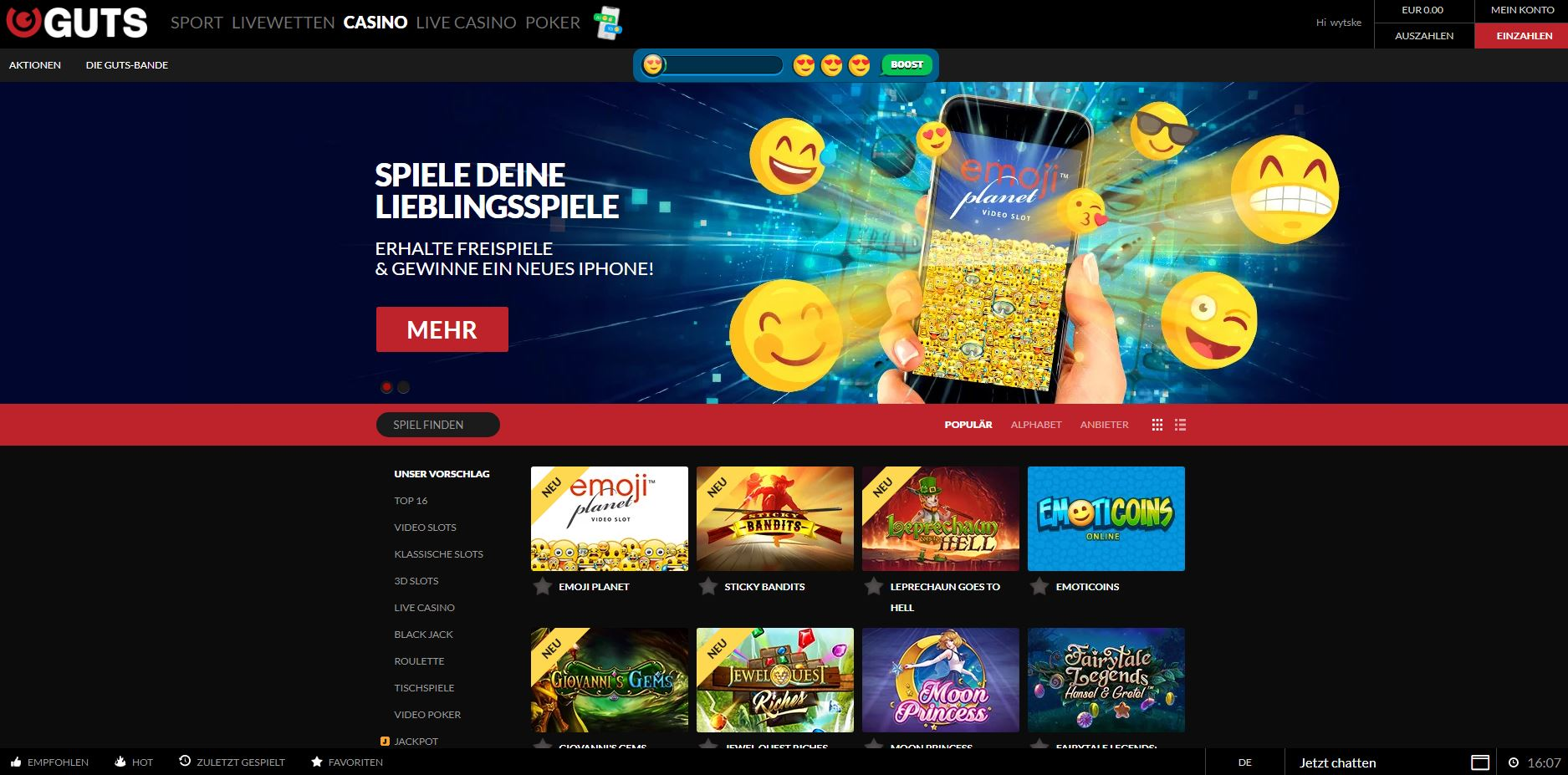 Homepage Guts Casino