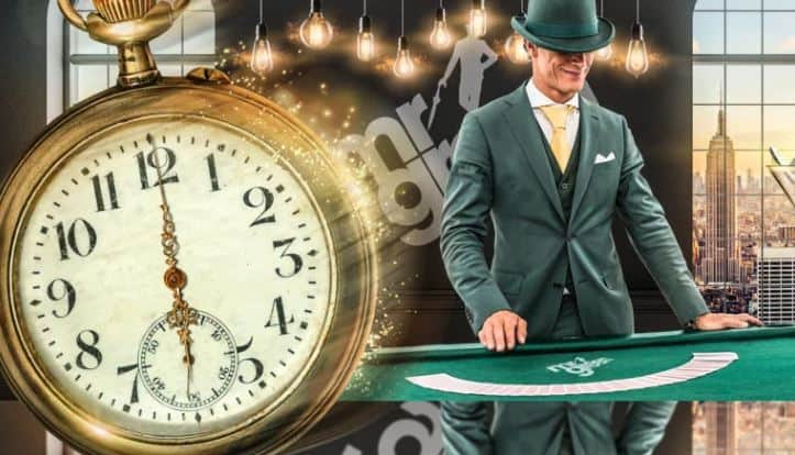 1374/5000 Blackjack Happy Hour und Jackpot-Zeit im Mr Green Live Casino