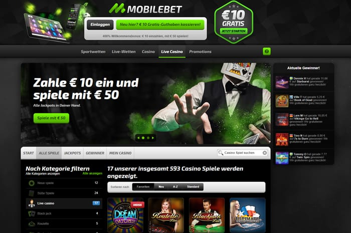 mobilebet website