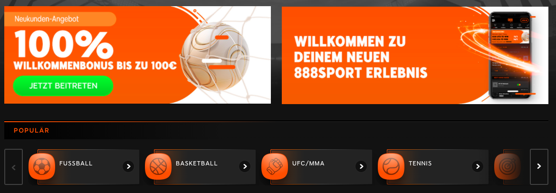 sport homepage
