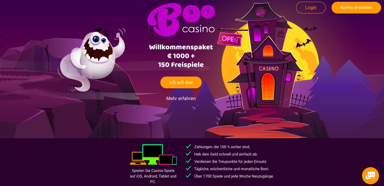boo casino homepage