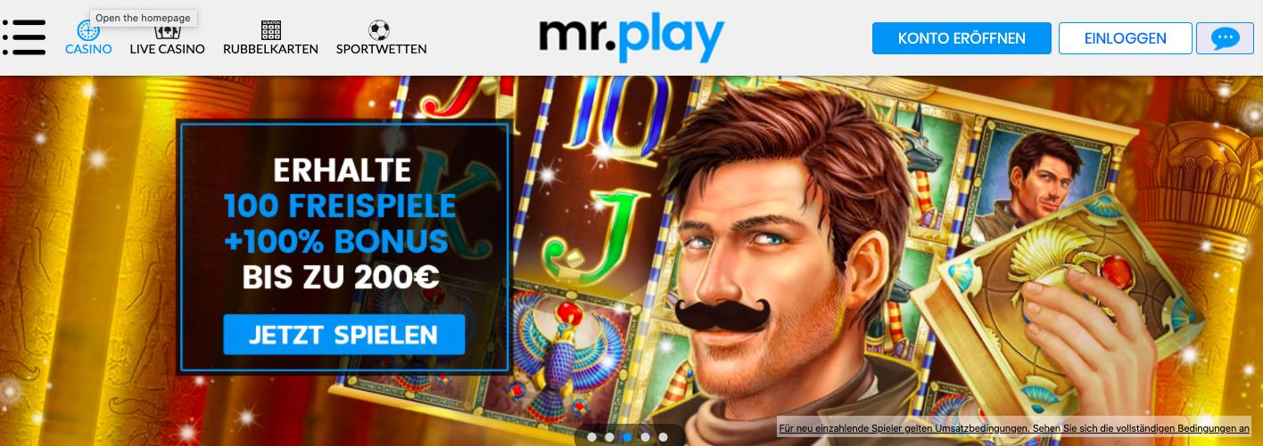 homepage mr play