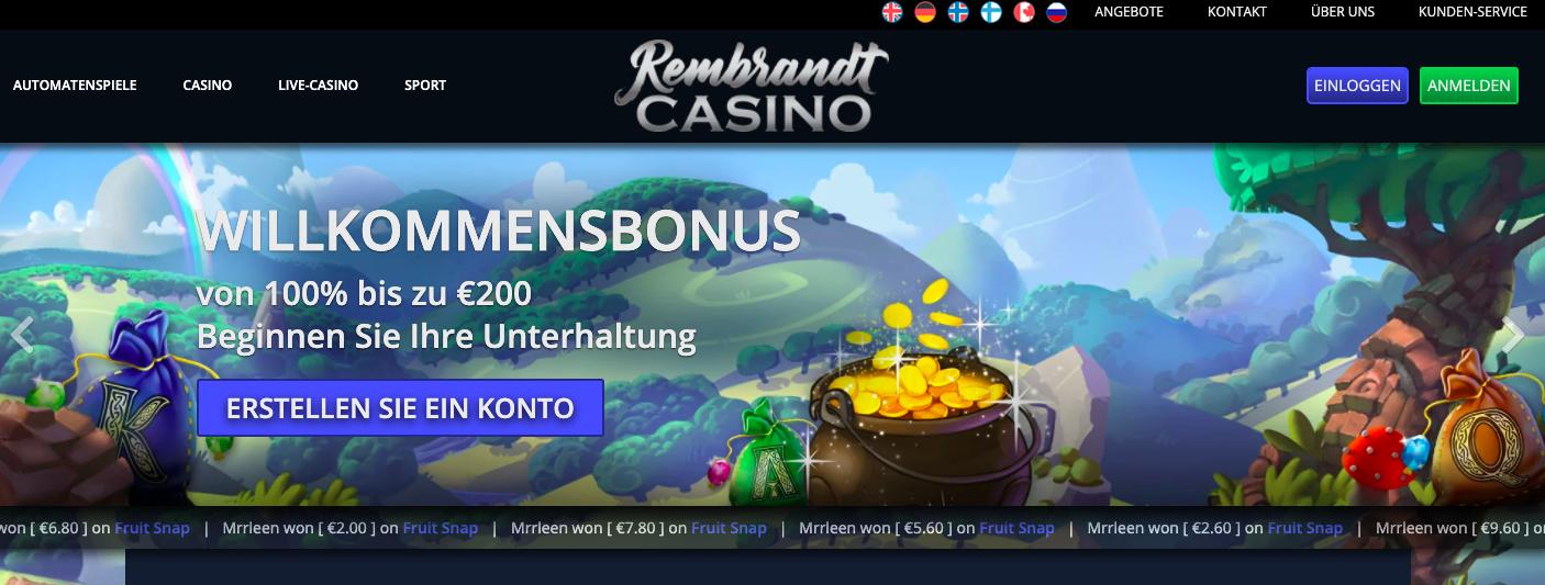 rembrandt casino homepage
