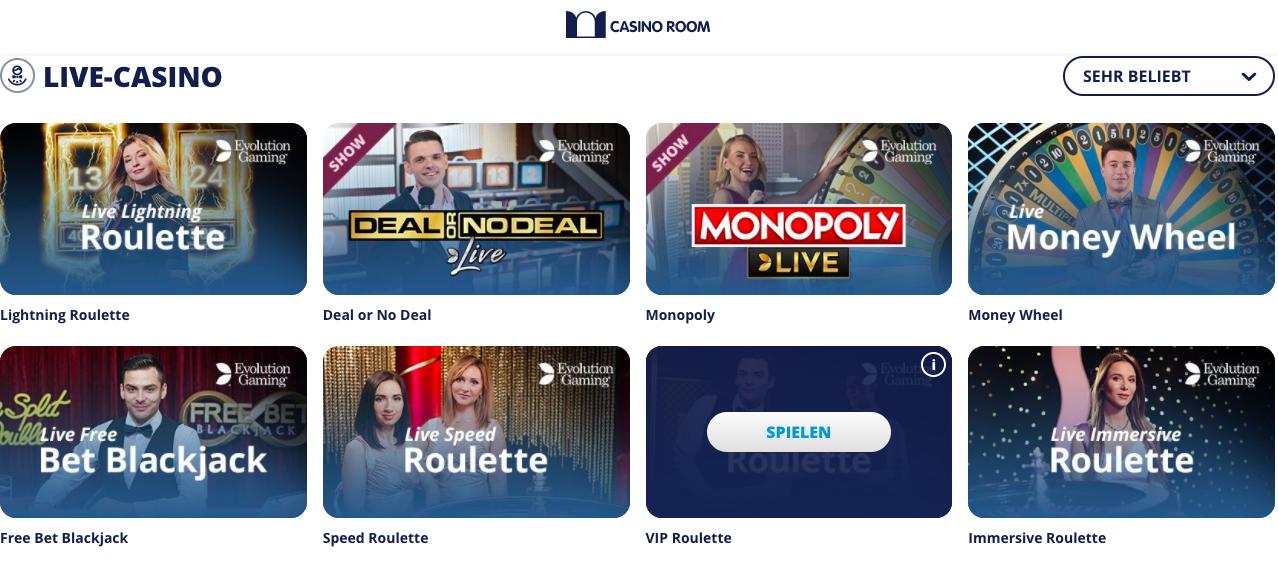 live casino casino room