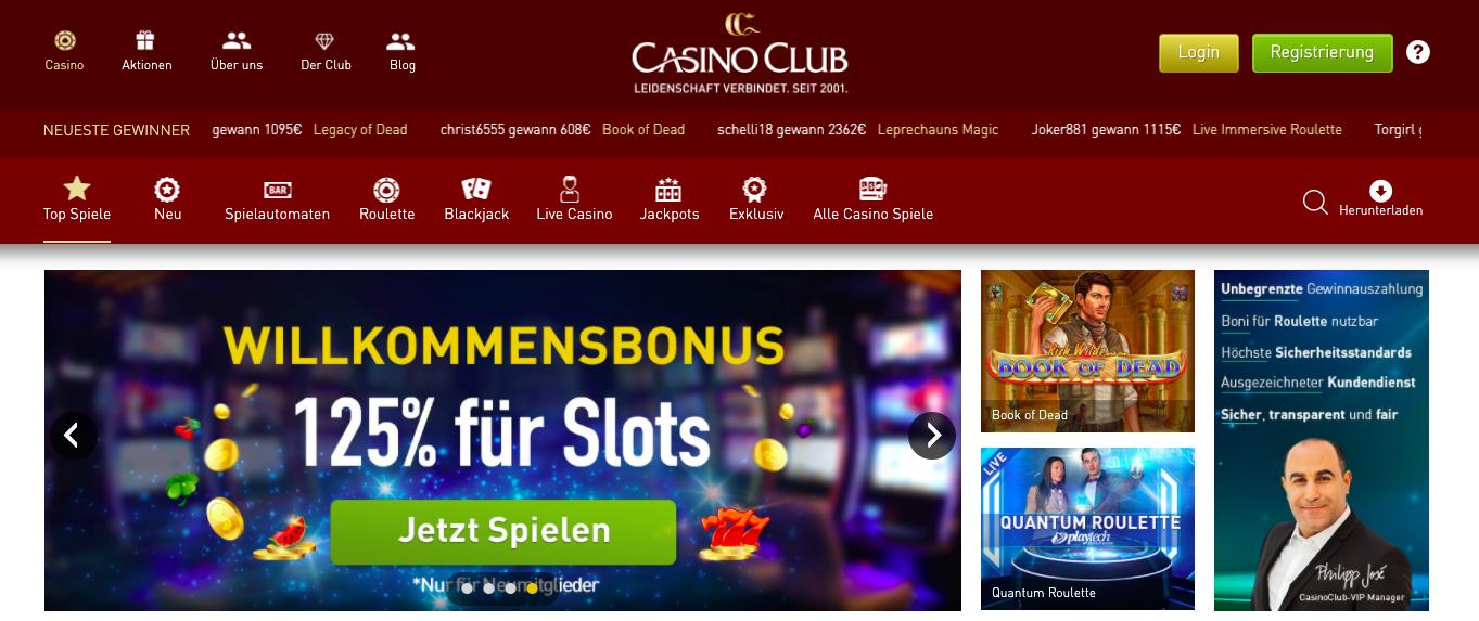 landing page casinoclub