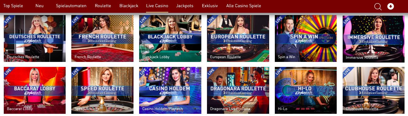 live casino casinoclub