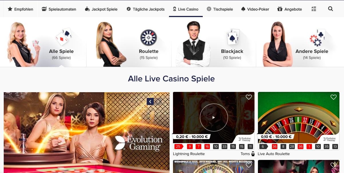 live casino casinoeuro