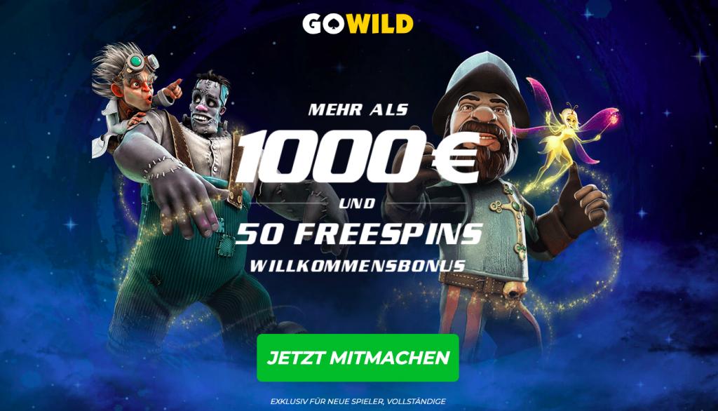 welcome bonus gowild